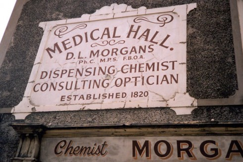 Morgan's Medical Hall, photo by Gareth Morlais, AbergelePost.co.uk