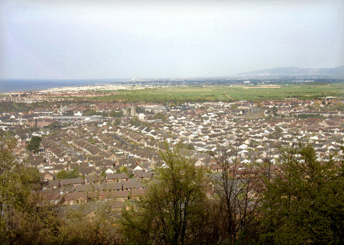 Tan y Gopa view of Abergele towards Rhyl. Photo taken 2003/06 by Sion Jones